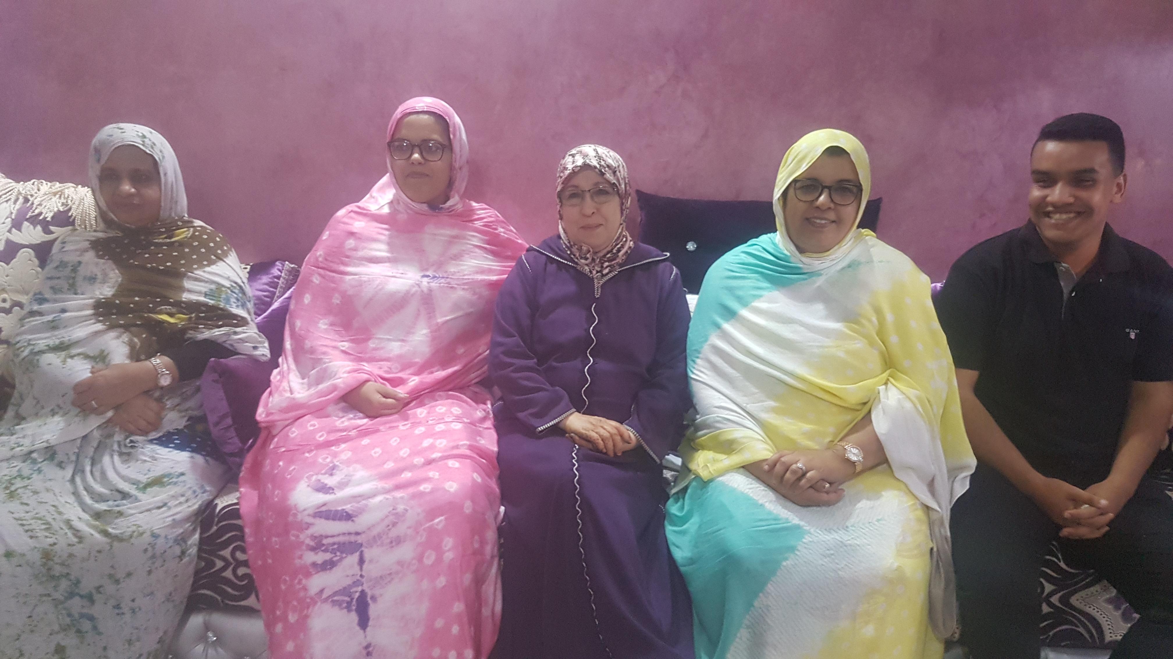 عميدة الفاعلات الجمعويات السيدة مريم العيساوي على رأس الهيئة المغربية للشباب الملكي الصحراوي فرع العيون