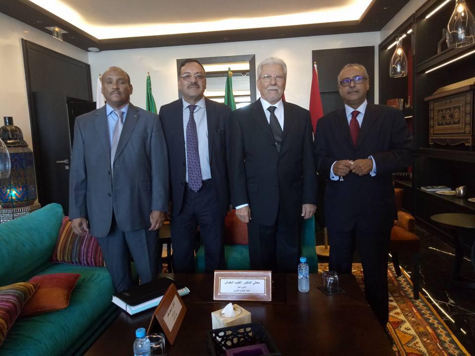 بلاغ صحفي الأمانة العامة لاتحاد المغرب العربي تعقد اجتماعا تشاوريا  مع ممثليالمؤسسات الاتحادية  (الرباط 10 أكتوبر 2017)