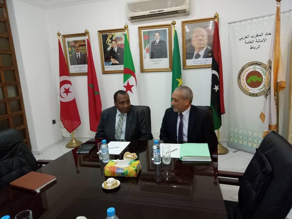 اتحاد المغرب العربي يبحث تطوير الشراكة والتعاون  مع المنظمة العربية للتنمية الزراعية (الرباط 17/11/2017)