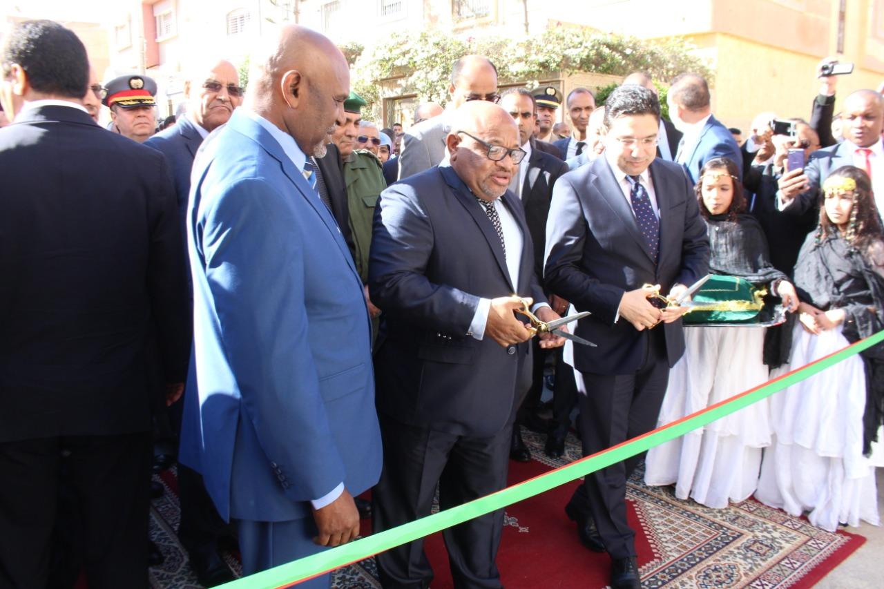 بالصور إفتتاح سفارة جزر القمر بحضور وزير الخارجية المغربي بوريطة ووزير جزر القمر بالعيون