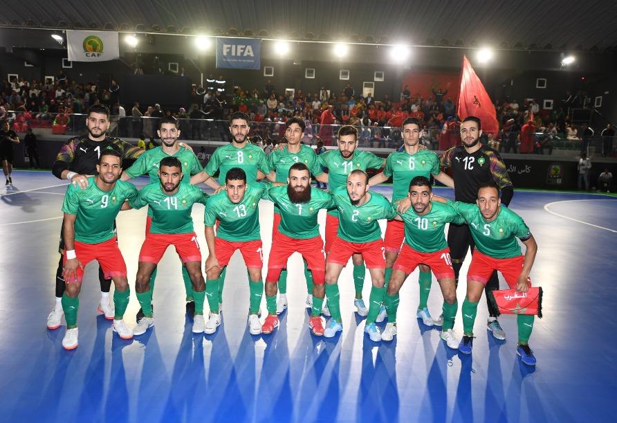 تأهل المنتخب المغرب لنهائي كاف فوتصال برياعية على حساب انغولا