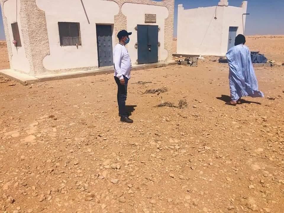 """رئيس جماعة الحكونية الترابية يقوم بزيارة ميدانية لمنطقة """" بئر أجداري"""" التابعة لنفوذ الجماعة"""