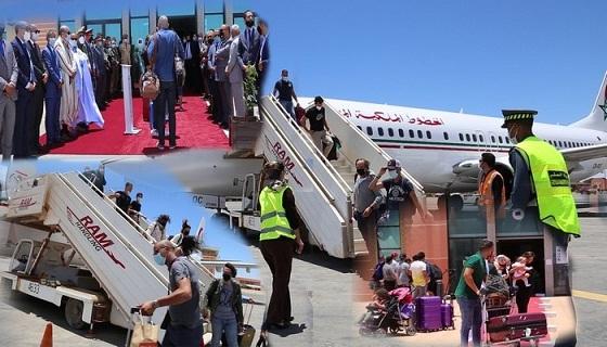 وصول أول رحلة جوية لمغاربة العالم بمطار الداخلة